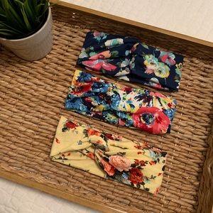 NEW ✨ THREE Floral Patterned Headbands - Set 3